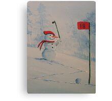Winter Golfing in Michigan Canvas Print