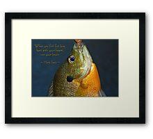 Fishing for Love Framed Print