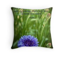 Rumi's Invitation Throw Pillow