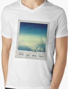 Wish you were here. Mens V-Neck T-Shirt