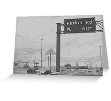 Parker Road, Industrial  Greeting Card