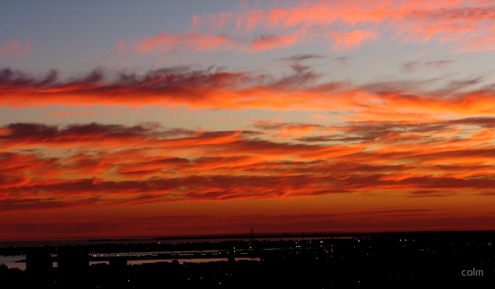 Sunset over Williamstown, Melbourne by colm