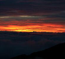 Sunset in the clouds by Stephanie  Triplett