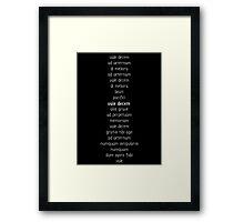Vale Decem Farewell Ten 2 Framed Print