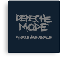 Depeche Mode : People are People - 1 - Grey Canvas Print