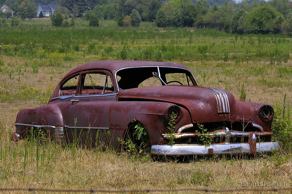 Old Pontiac Out to Pasture by Larry Llewellyn