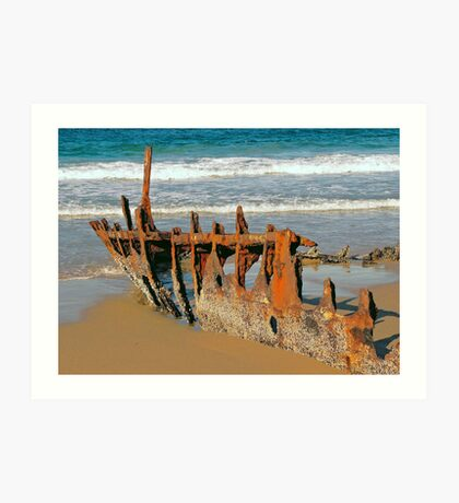 Wreck of the SS Dicky Art Print