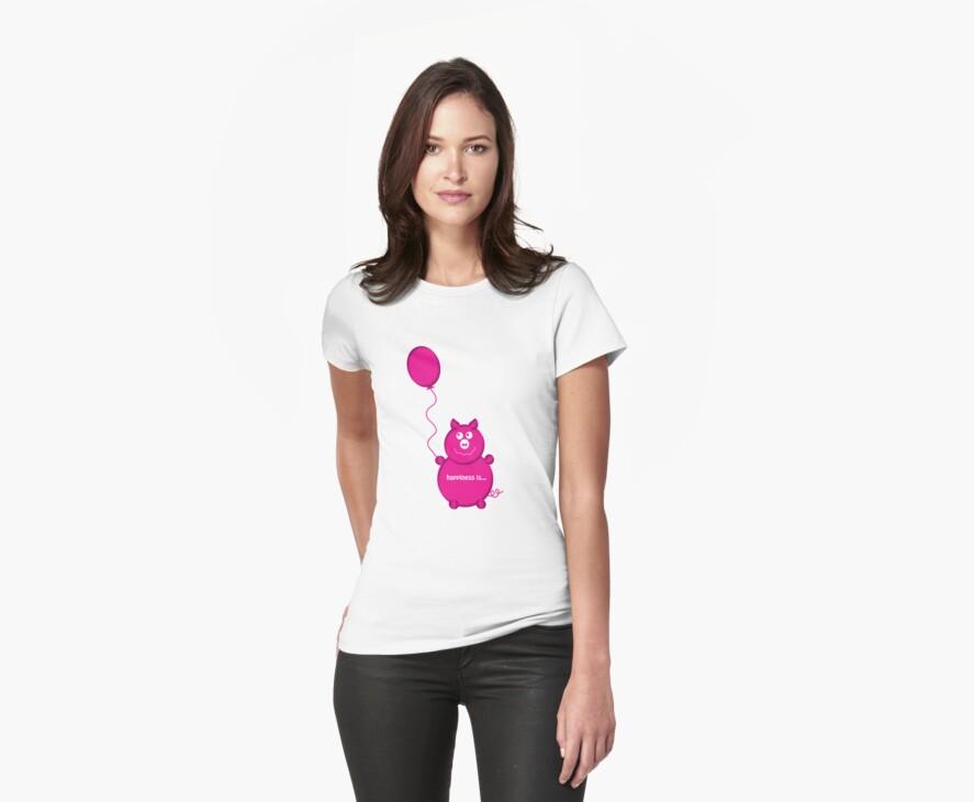 happy pink pig by Heather Scott