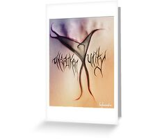 Unspoken Unity Greeting Card