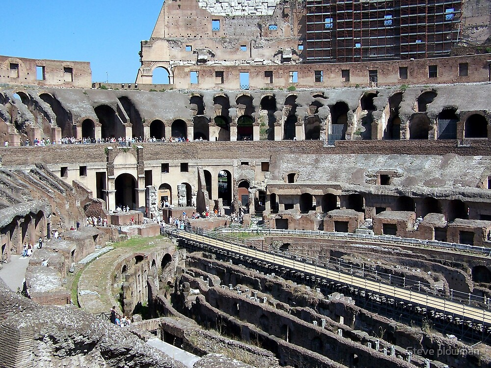 Inside the Colosseum by Steve plowman