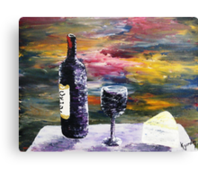 A Bottle Of Rose' Canvas Print