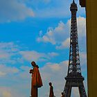 Paris, Blue Eiffel Tower by Andrew Reid Wildman