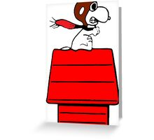 Aviator Snoopy Greeting Card