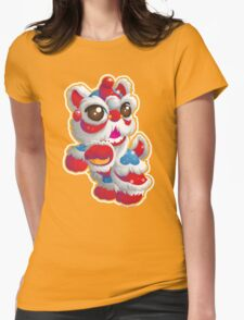 Cute Lion Dancer Womens Fitted T-Shirt