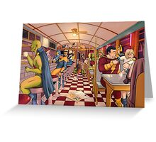 The Nite Owl Diner Greeting Card