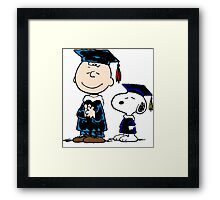 Snoopy graduate Framed Print