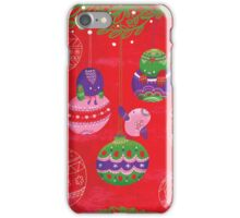 Have yourself a chirpy little Christmas - red iPhone Case/Skin