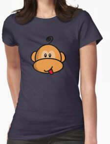 Young rebel monkey Womens Fitted T-Shirt