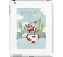 Holiday on Ice Greeting card iPad Case/Skin