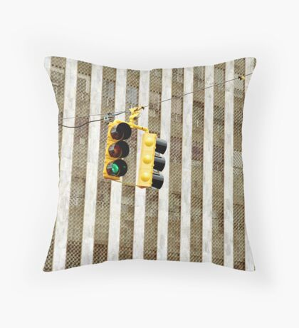 Traffic Lights Throw Pillow