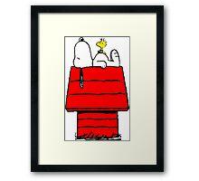 Snoopy & Woodstock Framed Print