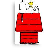Snoopy & Woodstock Canvas Print