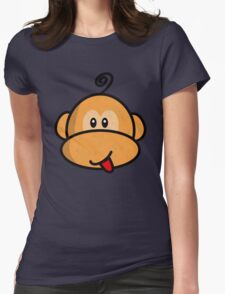 Young rebel monkey vintage Womens Fitted T-Shirt