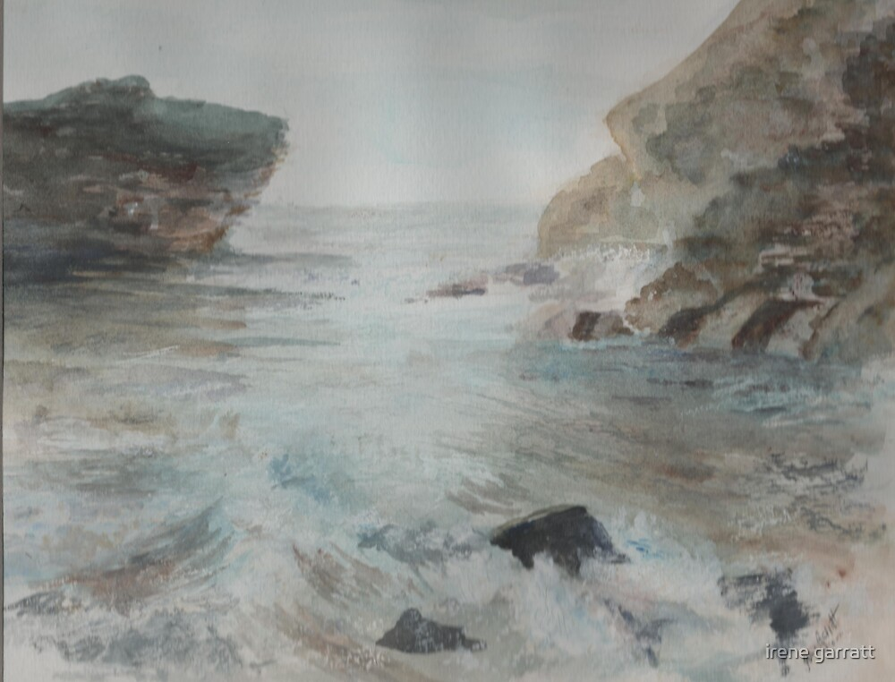 A Cornish seascape by irene garratt