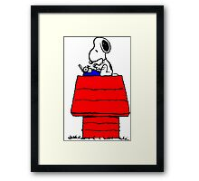 Typewriter Snoopy Framed Print
