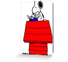 Typewriter Snoopy Greeting Card