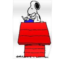 Typewriter Snoopy Poster