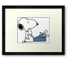 Snoopy typewriting Framed Print