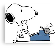 Snoopy typewriting Canvas Print