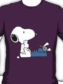 Snoopy typewriting T-Shirt