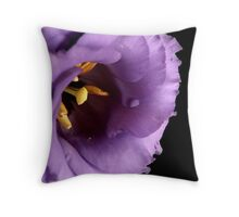 Lisianthus in Lavender Throw Pillow