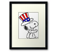 USA Snoopy Framed Print