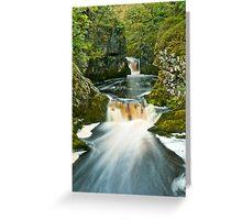 Waterfalls Trail, Ingleton Greeting Card