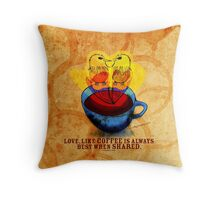 What my #Coffee says to me - Nov 7, 2012 Pillow Throw Pillow