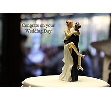 Wedding with some humour Photographic Print