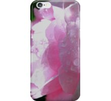 Water Droplets on Delicate Pink Rose iPhone Case/Skin