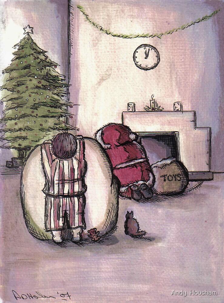 Peeking at Santa by Andy  Housham