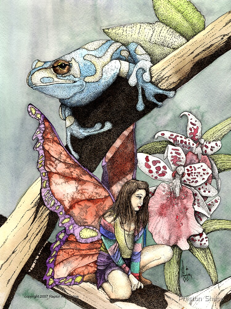 Flowers,Frog and a Faery by Preston  Shupp