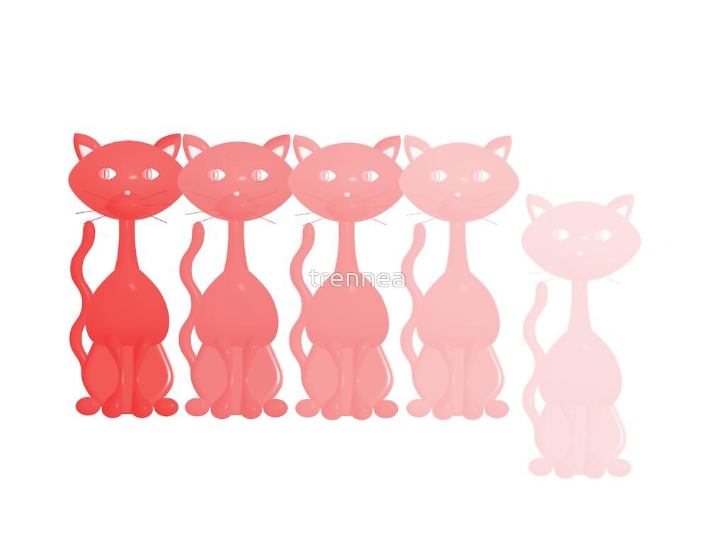 Red Kitties by trennea