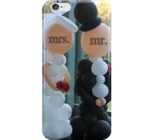Wedding Humour Balloon Bride and Groom iPhone Case/Skin