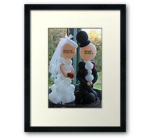 Wedding Humour Balloon Bride and Groom Framed Print