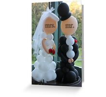 Wedding Humour Balloon Bride and Groom Greeting Card