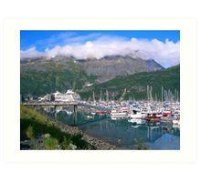 Port of Whittier AK Art Print