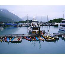 Kayaks in Valdez AK Photographic Print