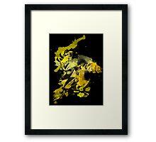 Electabuzz Splatter Framed Print