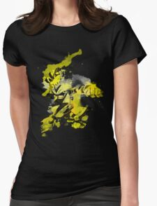 Electabuzz Splatter Womens Fitted T-Shirt